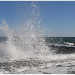 Морской фонтан!