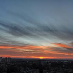 Небо на закате (панорама)