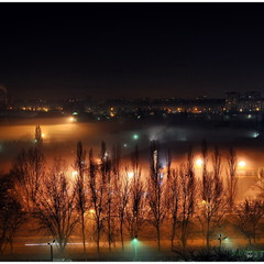 В вечернем тумане!