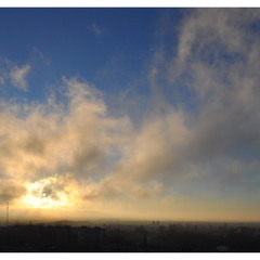 Закат в тумане