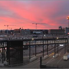 Закат в Западном порту Хельсинки