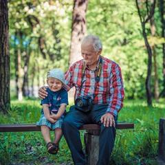 avtoportret s vnukom