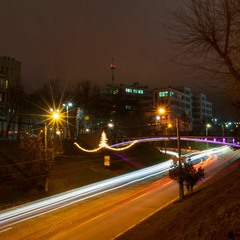 Нічний святковий Харків