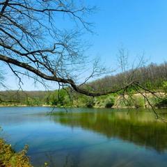 Теплое майское утро над озером...