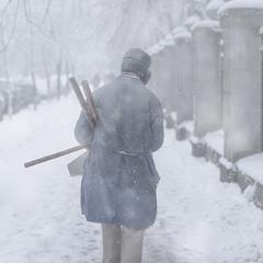 А в Киеве снежно