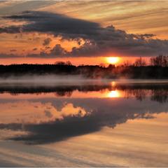 ... утро на озере