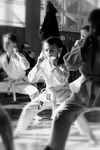Girl among boys. Kids Karate School