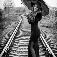 Yana in rain