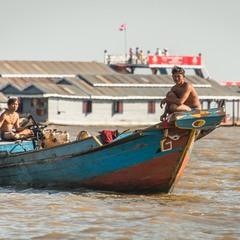 """Местный """"исполком"""" озера Тонлесап. Камбоджа. (ВСЕ НА ВОДЕ)!"""