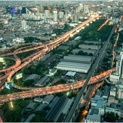 Вечерний Бангкок с высоты 84-го этажа...