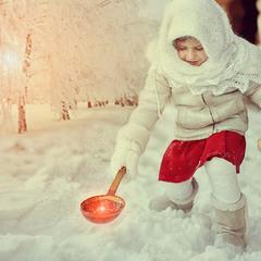 зимний солнечный зайчик ...