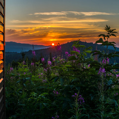Sunset in Transcarpathia