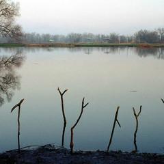 На реке Оскол ранней весной.