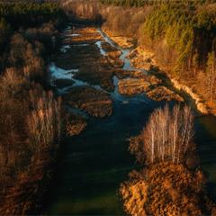 річка Лісна з пташиного польоту