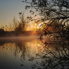 Восход на р.Уды