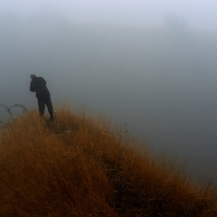 Человек на холме...