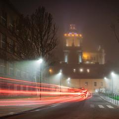Осень-вечер-туман
