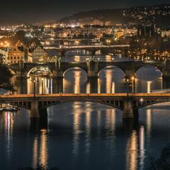 Прага. Пять мостов.