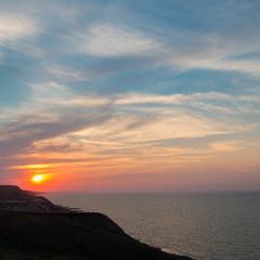 Закат над азовским морем