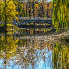 Місток закоханих восени