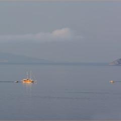 В утренней дымке или акварель Эгейского моря