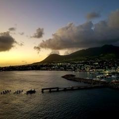 Закат Остров st. Kitts