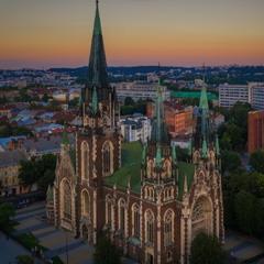 Костёл Святой Ольги и Елизаветы и тёплый августовский вечер