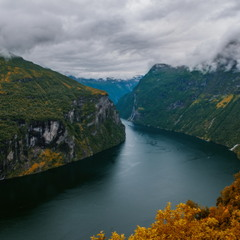 Dramatic state of the Geiranger Fjord