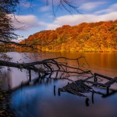 Озеро Барвинок в начале ноября