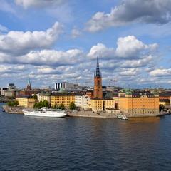 Стокгольм, вид на старый город