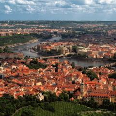 Прага, вид с Петршина.