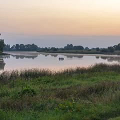 Рибалки на озері Глушець