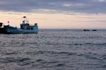 На Охотском море.
