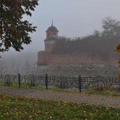 Туманний і сирий осінній ранок