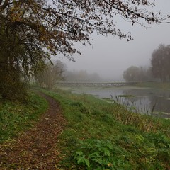 Осінній ранок біля річки