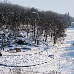 """Парк """"Софія"""" взимку. м. Умань."""