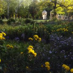 Жовтень  на храмовому дворі.