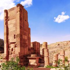 Иордания. Петра. Руины Триумфальной арки