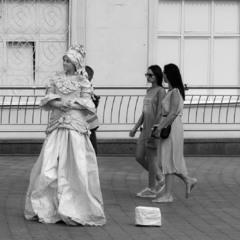 Живая статуя на Подоле