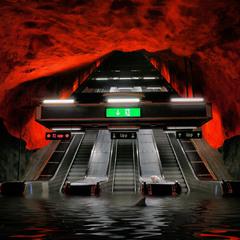 Затопленное Стокгольмское метро ...