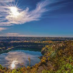 солнце купается в Радоновом озере)))