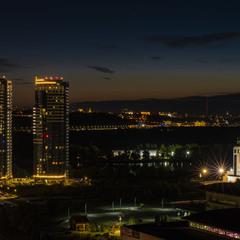 Вечерний Киев с 24 этажа