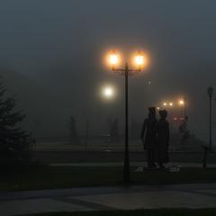 Туман накрыл город.