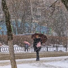 Мартовский снегопад.
