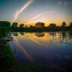 Літній вечір на р.Вільшанка
