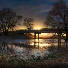Надвечір'є... Мост через р.Тясмин