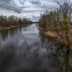 Река Ольшанка, март 2019