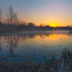 Неповторний ранок на на болотах Ірдиня