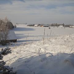 зима в селі