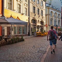 вулиці старого міста Рига